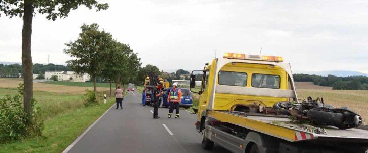 Einsatz 10/2017 (20.08.2017) Hilfe nach VU: Verkehrsunfall PKW und KRAD
