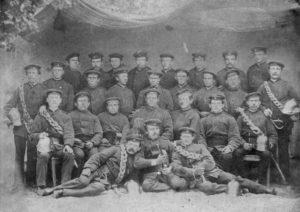 Gruppenbild der Feuerwehr Hoiersdorf aus dem Jahr 1882