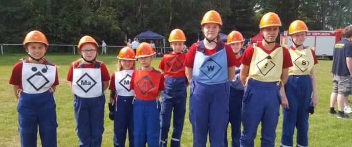 Die Jugendfeuerwehr Hoiersdorf belegt den siebten Platz bei den Kreiswettbewerben in Süpplingen!