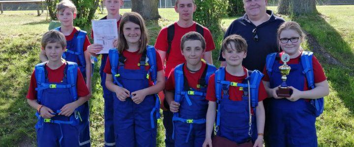 Jugendfeuerwehr Hoiersdorf belegt zweiten Platz bei den Gemeindewettbewerben in Schöningen